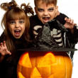 Child in halloween costume — Stock Photo #12058078