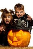 Bambino in costume di halloween — Foto Stock