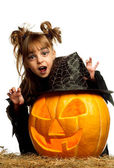 Child in halloween costume — Stockfoto