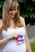 Těhotná žena — Stock fotografie