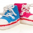 Stock Photo: Baby booties