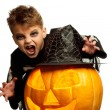 Child in halloween costume - Stock Photo