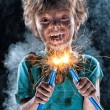 Crazy little electrician — Stock Photo #12913425