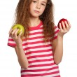 Girl with apple — Stock Photo #12914971