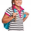 Girl with backpack — Foto de stock #12915003