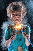 Crazy little electrician — Stockfoto