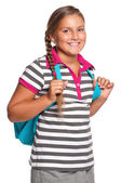 Girl with backpack — Fotografia Stock