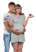 Pregnant woman with husband — Stock Photo