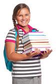 Ragazza con i libri — Foto Stock