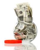 Frasco do dinheiro — Foto Stock