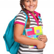 Girl with exercise books — Stock Photo #13273117
