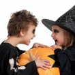 Stock Photo: Child in halloween costume