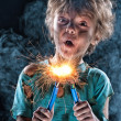 Crazy little electrician — Stock Photo #13482852