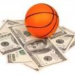 Dollars and ball — Stock Photo #13482948