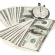 Dollars and stopwatch — Stock Photo #13483121