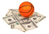 Dollars and ball — Stock Photo