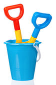 Toy bucket and spade — Stok fotoğraf