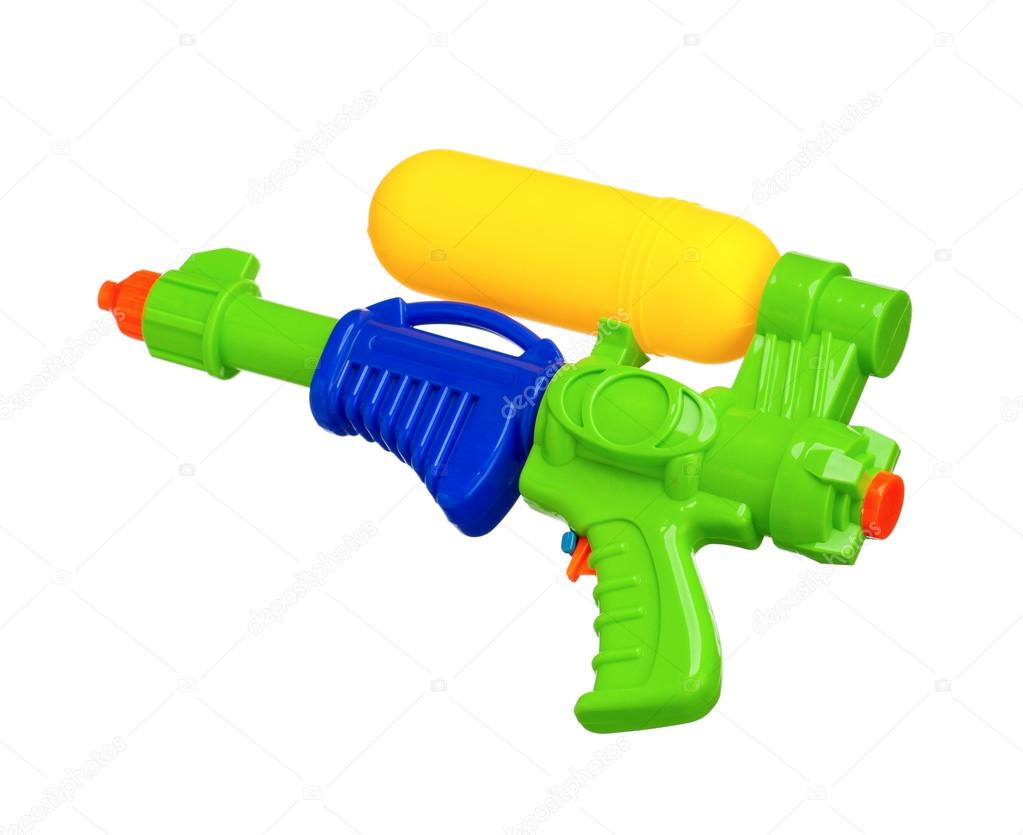 Plastic water gun isolated on white background  Stock Photo #13484855