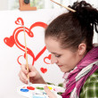 Foto Stock: Female painter