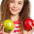 Girl with apple — Stock Photo #13512833