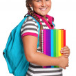 Girl with exercise books — Stock Photo #13512838