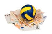 Euro und ball — Stockfoto