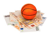Euro and ball — Stock Photo