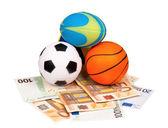 Euro and balls — Stock Photo