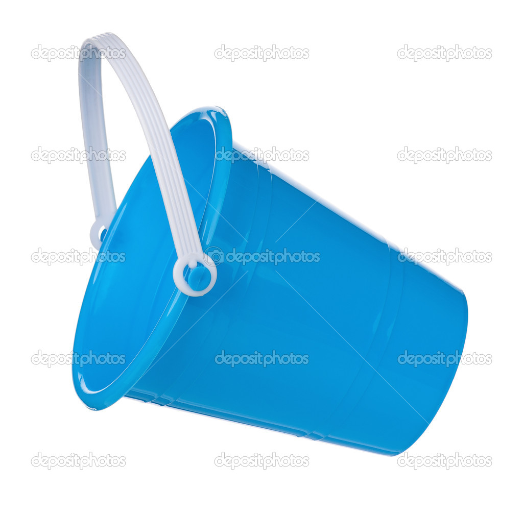 Toy small bucket isolated on white background  Foto de Stock   #13513060