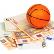 Euro and ball — Stockfoto