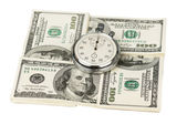 Dólares e cronômetro — Foto Stock