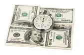 Dollari e cronometro — Foto Stock