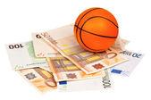 Euro and ball — Stock Photo