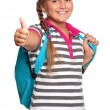 Royalty-Free Stock Photo: Girl with backpack