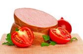 Boiled sausage — Stock Photo