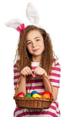 Girl with bunny ears — Stock Photo