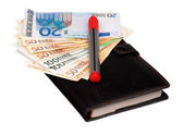 Money and notepad — Foto de Stock