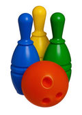 Toy bowling — Stock Photo