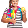 Girl with exercise books — Foto de stock #15408607
