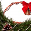 Christmas wicker basket — Foto de Stock