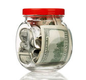 Money jar — Stock Photo