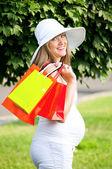 怀孕的女人 — 图库照片