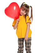 Girl with heart — Stock Photo