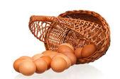 Hasır sepet yumurta — Stok fotoğraf
