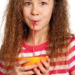 Girl with orange juice — Stockfoto #20974043