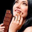 Royalty-Free Stock Photo: Woman with chocolate