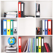 Folders on shelves — Stock Photo #24585925