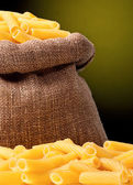 Pasta in bag — Stock Photo