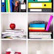 Folders on shelves - Stock Photo