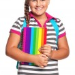 Girl with exercise books — Stock Photo #25673397